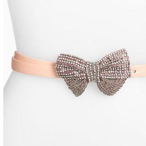 {Tarnish} Nordstrom 'Skinny Sparkle Bow' Belt